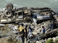 В Китае на автобане произошло крупное ДТП