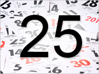 Листок календаря, 25