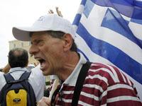 Очередная массовая забастовка проходит в Греции. greece