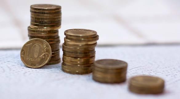 Экономика России начала стабилизироваться. Столбик десятирублевых монет