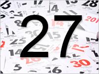 Листок календаря, 27