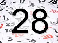 Листок календаря, 28
