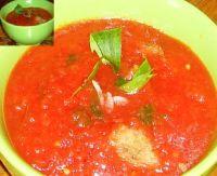В Испании любят в летнюю жару готовить холодный овощной суп -