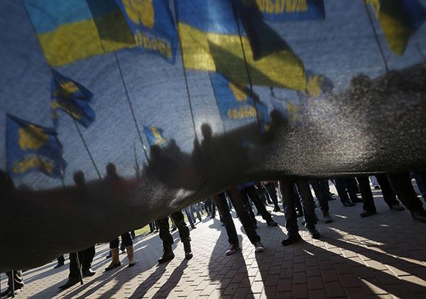Люстрация бьет по новой власти Украины. Митинг на Украине