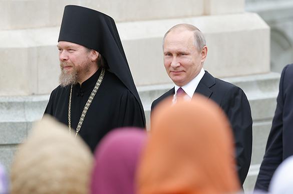 Путин ипатриарх Кирилл откроют новый храм в российской столице