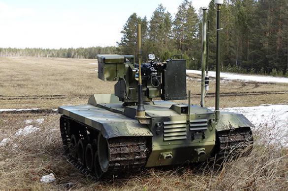 Россия начала испытания боевых роботов. Видео. Россия начала испытания боевых роботов. Видео