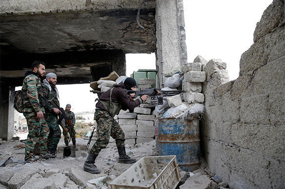 Сирийская армия окружила террористов возле города Акербат. Сирийская армия окружила террористов возле города Акербат