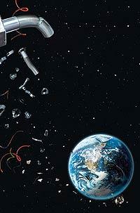 Большая метла для космического мусора