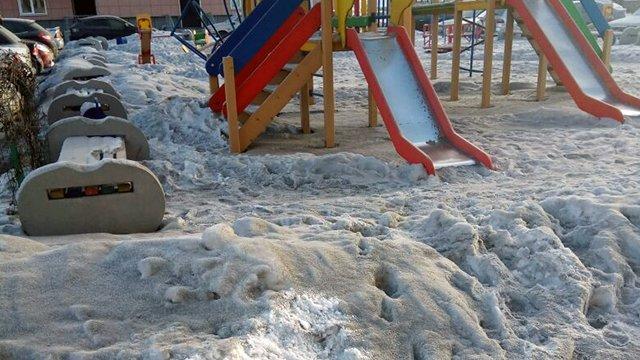 Новосибирск покрыл черный техногенный снег. Новосибирск покрыл черный техногенный снег
