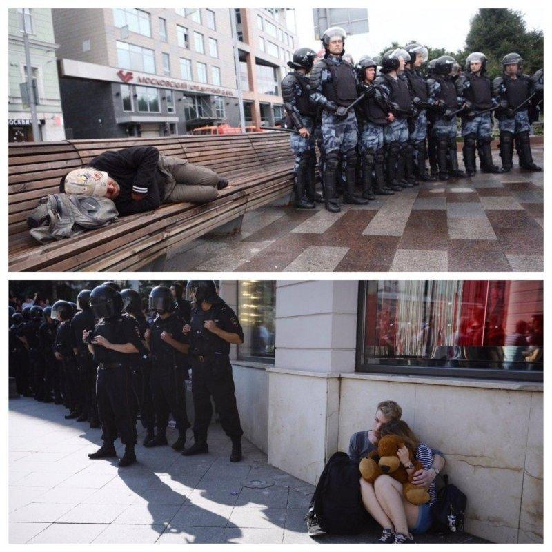 Спящий алкоголик стал новым «лицом» протеста в Москве. 404032.jpeg