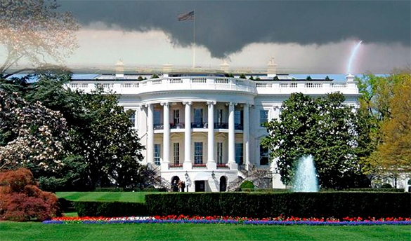 Белый дом выступил против приостановки сотрудничества с Россией в сфере ядерного нераспространения. Белый дом, Вашингтон, США