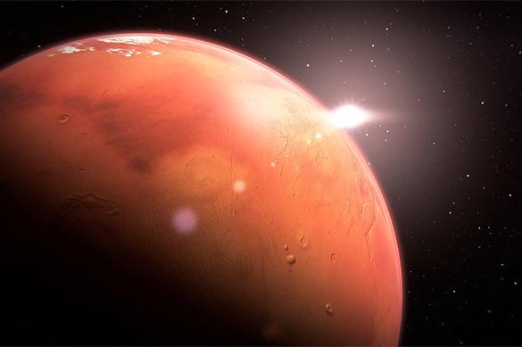 На Марсе нашли большое количество воды в виде льда. На Марсе нашли большое количество воды в виде льда