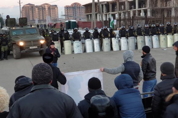 По факту беспорядков в Ингушетии возбуждено уголовное дело.