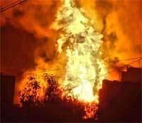 Пожар на газопроводе в Тверской области потушен