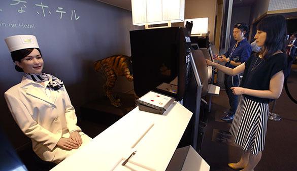 Отель с роботами в Японии