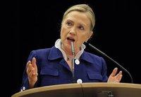 Хиллари Клинтон не боится угроз Каддафи. clinton