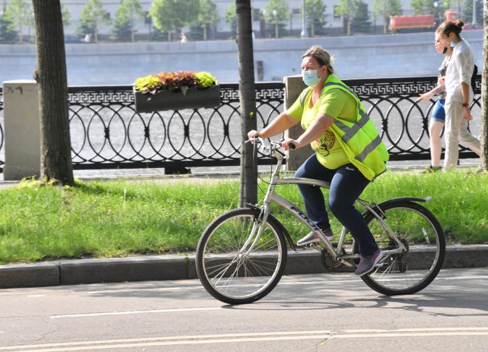 маска, велосипед, лето