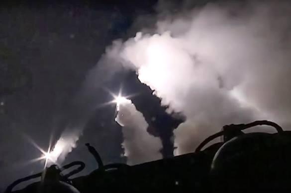 залп с кораблей ВМФ РФ , Каспий