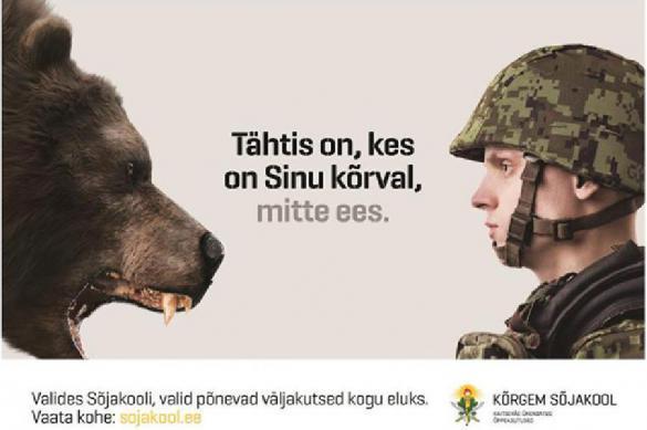 Стыд какой: на плакате прибалтийской армии изобразили медведя. 388059.jpeg