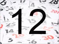 Листок календаря, 12