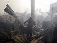 Пожар лишил крова десять тысяч жителей Манилы. manila