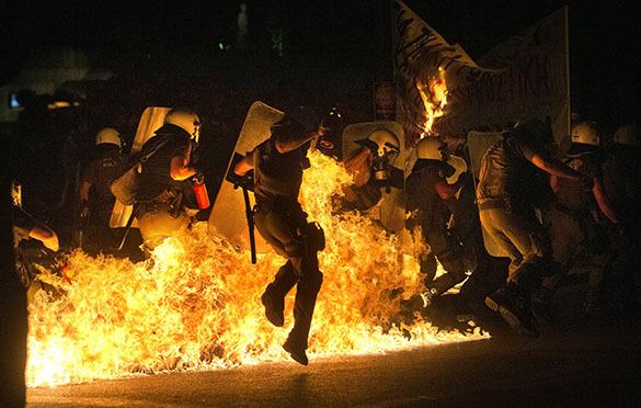 Греция, беспорядки на улицах