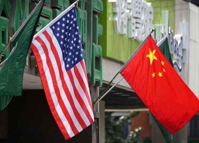 США и Китай, флаги