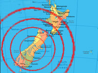 В Новой Зеландии произошла серия землетрясений
