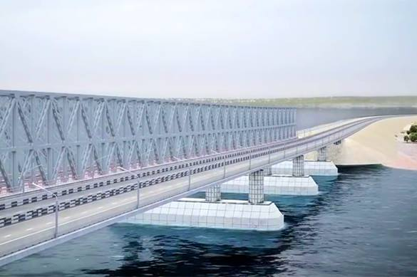 Крым показал Украине свой гигантский Крымский мост. крымский мост