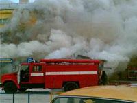 Пожар на Черкизовском рынке полыхал больше пяти часов