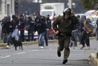 Полиция Чили задержала 400 протестовавших студентов. chile