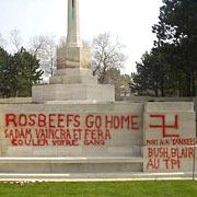 Противники войны с Ираком осквернили британское военное кладбище