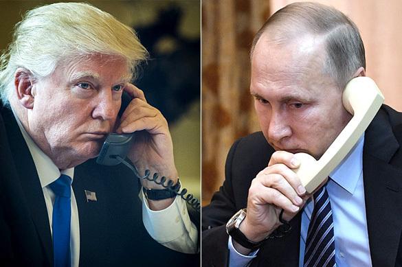 Путин иТрамп провели беседу потелефону