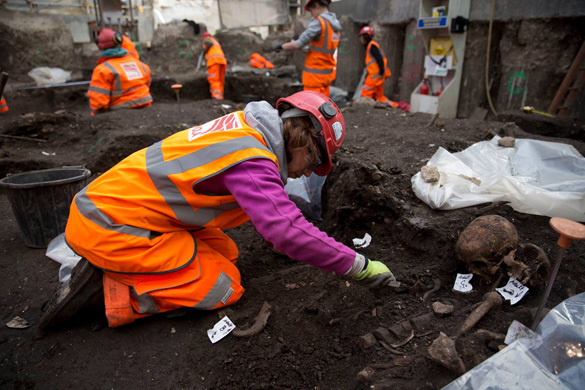 В Лондоне археологи раскопали Бедлам. Раскопки захоронения Бедлам, Лондон