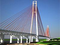 Сооружается первый пролет моста на остров Русский