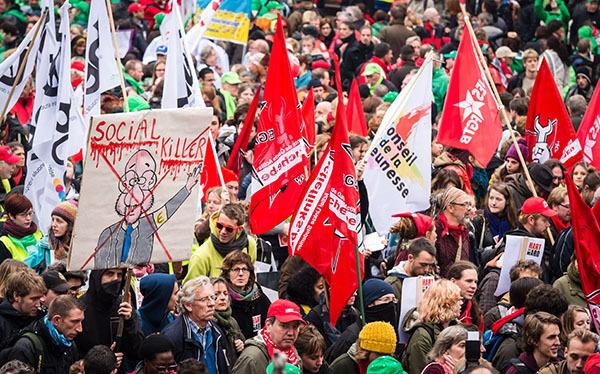 В Брюсселе протестуют против повышения пенсионного возраста. 303102.jpeg