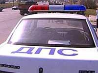 Пьяный москвич разбил головой патрульную машину
