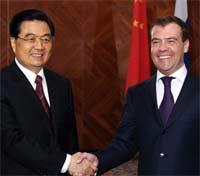 Дмитрий Медведев и Ху Цзиньтао провели переговоры в Москве