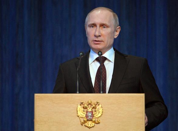 Владимир Путин: В условиях полуоккупации мы жить не будем. Президент России Владимир Путин