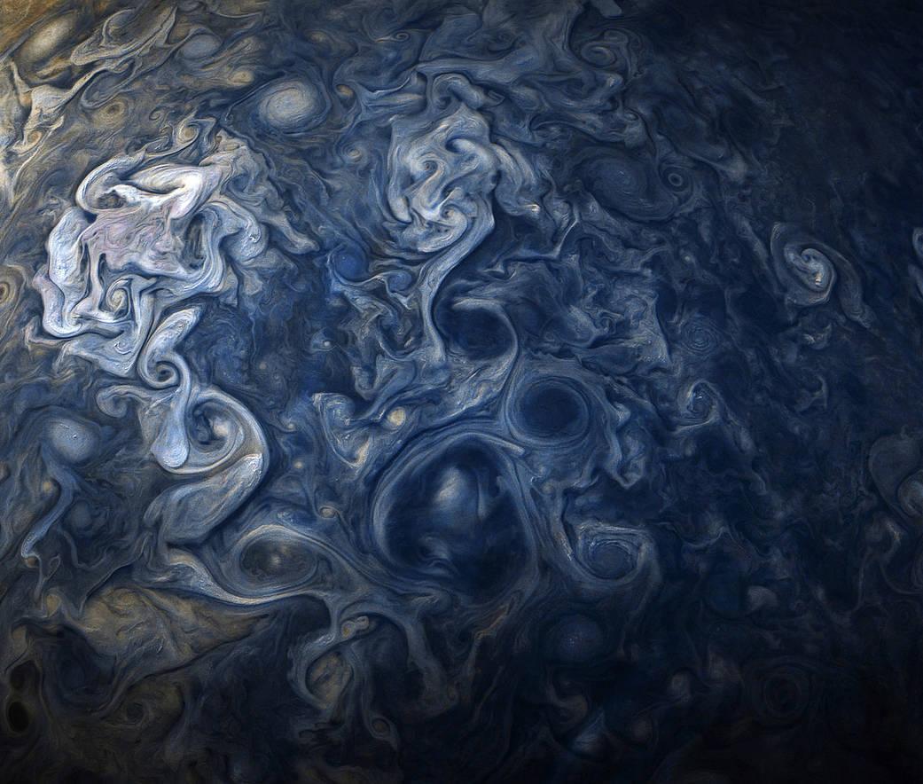 NASA опубликовало фото облаков на Юпитере. NASAопубликовало фото облаков на Юпитере