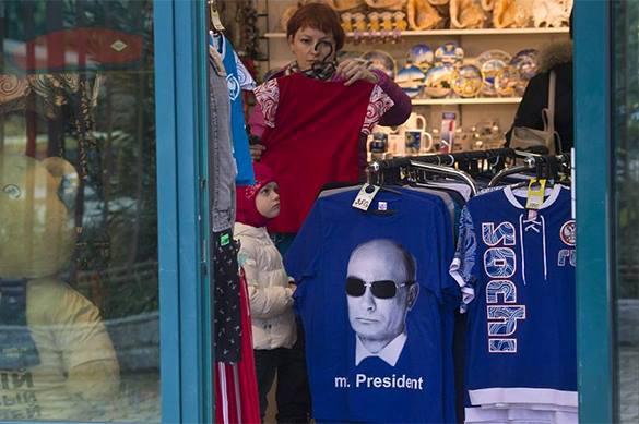 В Латвии началась продажа футболок с Путиным