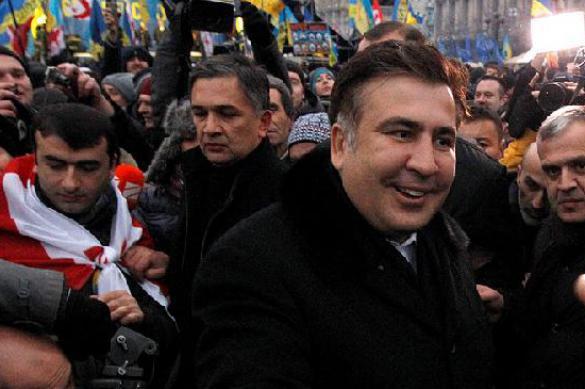 """Грузино-украинский нелегал: Саакашвили  остался на """"майдане"""" без паспорта. 378119.jpeg"""