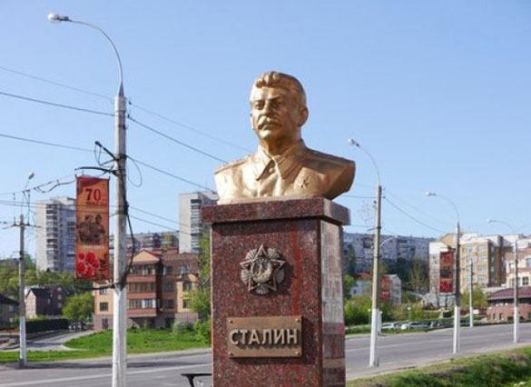 Памятник Иосифу Сталину установлен в Липецке. Сталин