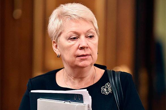 Васильева пообещала резко уменьшить количество учебников в Российской Федерации