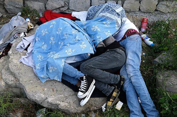 Румынские нелегалы разбили лагерь в лондонском парке рядом с офисом Скотленд-Ярда. 322131.jpeg