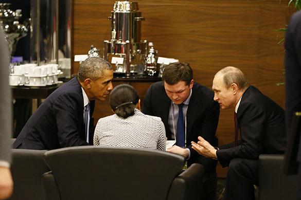 Путин и Обама, G 20 в Турции