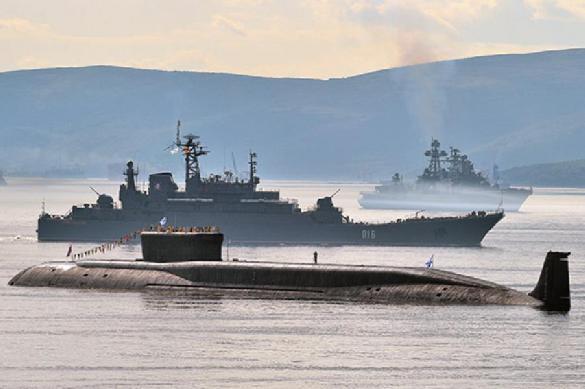 В Японском море прошли учебные артиллерийские стрельбы с крейсера '