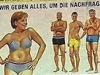 Ангелу Меркель оголили для рекламы