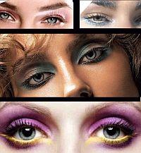 Особенно подходят голубым глазам такие цвета: коричневый