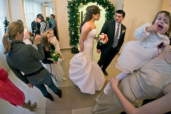 Росстат: Количество разводов значительно сократилось. свадьба, молодожены, брак